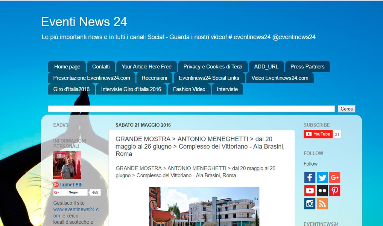 eventi news 24