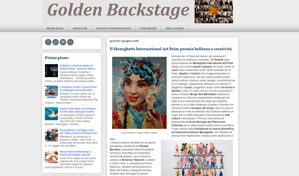 golden backstage